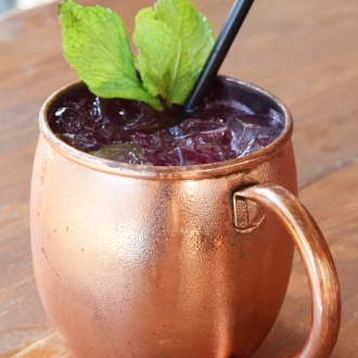 Blueberry Bourbon Mule