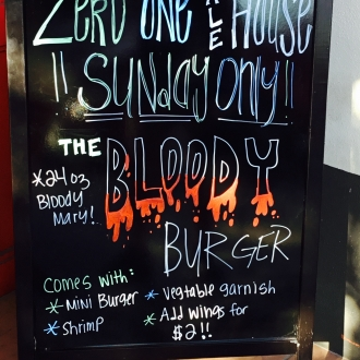 Sandwhich Board - Bloody Burger